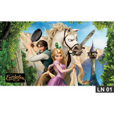 Enrolados Rapunzel Painel 3,00x1,60m Lona Festa Aniversario