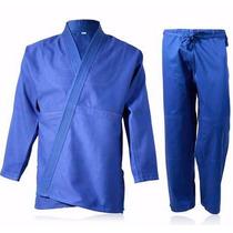 Judo Mediano Shiai Azul Judogi 4 A 8 Uniforme Traje Tramado