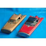 Lote X2 Ford Gyron Rojo Marron Gorgo Lata Juguete Antiguo