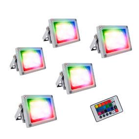 Lampara Reflector Luminaria Led Rgb 10w X5 Pzas Promocion