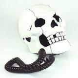 Telefone Em Formato De Cranio De Caveira Branco Diferente