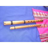 Flauta Quena De Bambu+tabla De Digitação+ Cd Isntrumental.