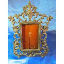 El Arcon Antiguo Portaretrato De Metal Labrado 28cm 16065