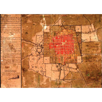 Lienzo Tela Mapa Ciudad De México Año 1794 50 X 69 Historia