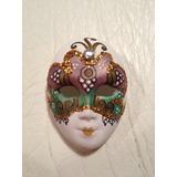 Máscara Veneciana Auténtica Decoración Arte
