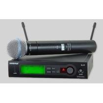 Microfone De Mao Shure Sem Fio Slx24 Beta 58 Novo Promocao