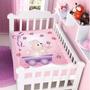 Cobertor Jolitex Infantil Berço Bebê Raschel Coelhinho Rosa