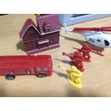 Caminhão Bombeiros Acessorios Fire Fighters Figuras Heli