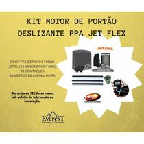 Kit Motor De Portão Deslizante Ppa Jet Flex