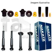4 Amortecedores Nakata + Kits Gm Corsa Novo Sedan 2002/2012