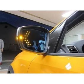 Par Pisca Led Seta Retrovisor Carro Amarelo Promoção
