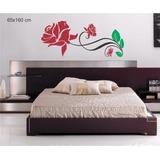 Adesivo Papel Parede Cabeceira Quarto Floral Rosas Arabesco
