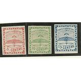 Estampillas Confederacion Argentina Numero 1 Al 3 Año 1858