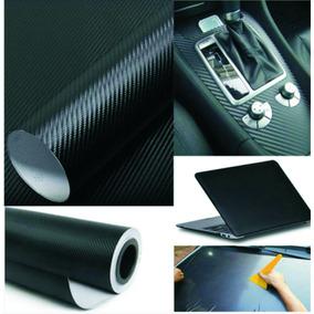 Adesivo Fibra De Carbono Moldavel - Preto 30x50cm - Confira