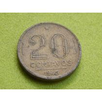 Moeda De 20 Centavos 1945 Getúlio Vargas Brasil (ref 1997)