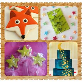 Set Cortantes Estrellas X3 Tortas Cupcakes Cookies Porcelana