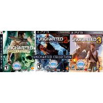 Uncharted 1 2 3 Collection Psn Ps3 Jogo Mídia Digital