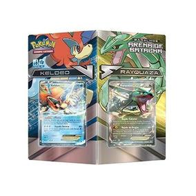 Pokemon Cards Tema Deck Arena De Batalha Keldeo E Rayquaza