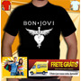 Camisa Bon Jovi - Camiseta Guns Roses Ramones Ac Dc Linkin