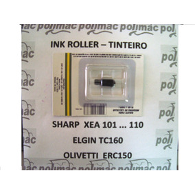 2 Roletes Tinta Tinteiro Registradora Sharp Xea Elgin Tc160