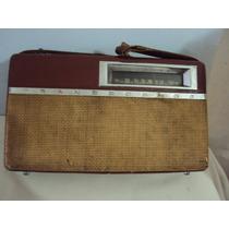 Radio Antigo Telespark Transcosmos De Couro Ler Descrição
