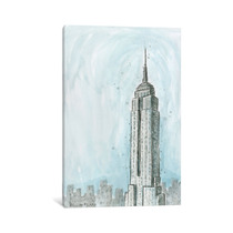 Pintura Arte Nyc Empire State Canvas Art Print By Bella Pil