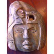 Replica De Mascara De Guerrero Prehispanico. Gran Calidad.