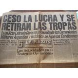 Guerra De Malvinas Diario La Razón 15/6/1982