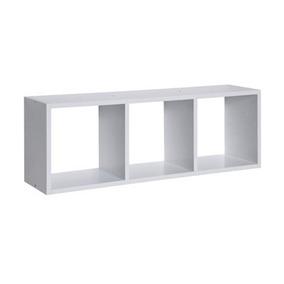 Nicho Triplo Branco 90x30x15 100% Mdf - Mv006