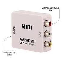Mini Adaptador Conversor De Video Composto 3rca Av Para Hdmi