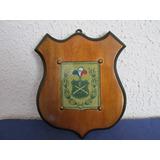 Antiguo Galvano Coleccion Carabineros Chile Madera Caoba