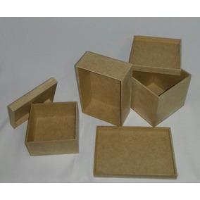 Kit Com 50 Caixas Mdf Cru 5x5x5 Cm Casamento Lembrancinha