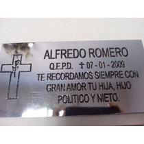 Placa Recordatoria Para Cementerio