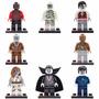 Pacote C/ 8 Minifiguras Zumbis Vampiro Múmia Compatível Lego