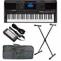 Teclado Musical Arranjador Yamaha Psre453 Suporte+capa+fonte