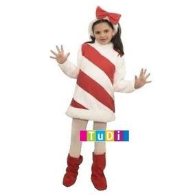 Disfraz Niña Baston Navidad Caramelo - Disfraces Tudi
