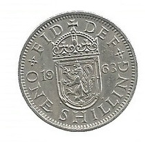 Inglaterra 1 Shilling 1963