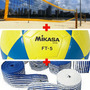 Kit Rede Oficial Futevôlei / Bola Mikasa Ft5 / Marcaçao Fita