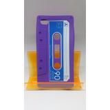 Capa Para Celular Iphone 4s/4g Silicone Desenho De Fita K7