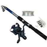 Set Caña De Pescar 2.40mts + Accesorios / Tecnofactory