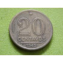 Moeda De 20 Centavos 1945 Getúlio Vargas Brasil (ref 2124)
