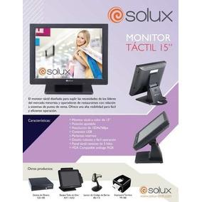 Monitor Touch Screen 15 Pulgadas Solux, Sx Tm Dl150t