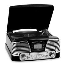 Vitrola Harmony Preto Lp/cd/fm/usb/sd/gravação