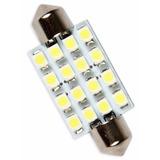 Lampada Torpedo 16 Leds Luz Teto Placa Smd Super Branca 31mm