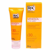 Protetor Solar Roc Minesol Actif Unify Fps 30 50g