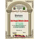 Diplomas, Bachiller 6to Grado Kinder Tmedallas, Placas,