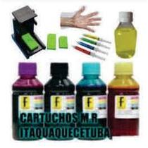 Kit Tinta Recarga Cartucho Impressora Hp Canon Pg 664 662