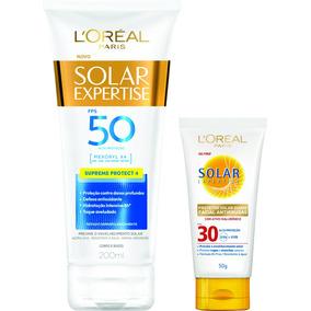 Kit Protetor Solar Loreal Fps 50 200ml + Facial Fps 30 50gr