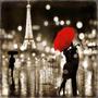 Paris Kiss En Tela Canvas Bastidor De 60x60 Cm
