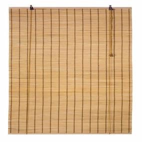 Persiana Bambu Cortina Rolo 100 X 160 Cm Mista Natural